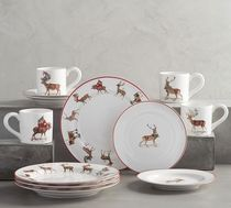 Pottery Barn★XmasSILLY STAG 12ピースディナーウェアセット