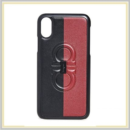 Salvatore Ferragamo スマホケース・テックアクセサリー 【国内発送】Salvatore Ferragamo Frenze Logo iPhone X Case