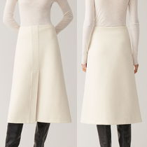 """""""COS"""" A-LINE COTTON JERSEY SKIRT IVORY"""
