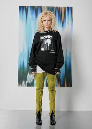 OPEN THE DOOR Tシャツ・カットソー [OPEN THE DOOR]   POINTED STITCH PRINTING LOGO T  -(全2色)(5)