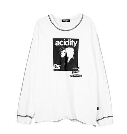 OPEN THE DOOR Tシャツ・カットソー [OPEN THE DOOR]   POINTED STITCH PRINTING LOGO T  -(全2色)(12)