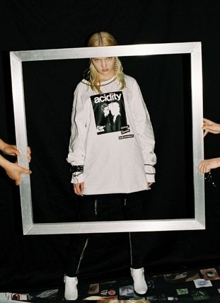 OPEN THE DOOR Tシャツ・カットソー [OPEN THE DOOR]   POINTED STITCH PRINTING LOGO T  -(全2色)(16)