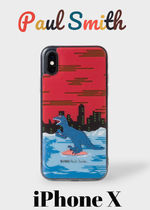 [Paul Smith]*Red 'Dino' Motif* iPhone X用スマホケース