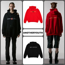 【ANOTHERYOUTH】★19AW スリットフーディ BLACK,RED/追跡送料込