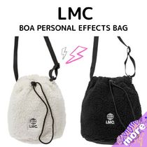 LMC★BOA PERSONAL EFFECTS BAG ivory/Black ボアバッグ 白 黒