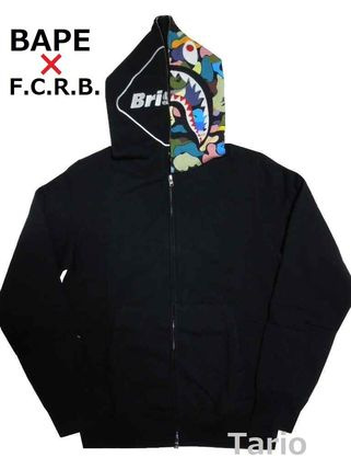 送料込!【A BATHING APE x F.C.R.B.】 SHARK FULL ZIP HOODIE M