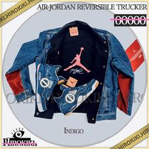 NIKE AIR JORDAN LEVIS REVERSIBLE TRUCKER JACKET LEVI'S BLUE