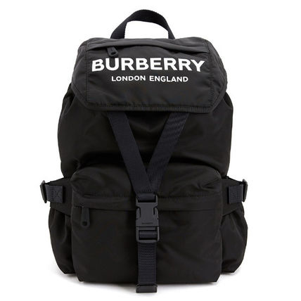 Burberry バックパック・リュック Burberry☆19FW ロゴプリント ナイロンバックパック☆正規品☆(2)