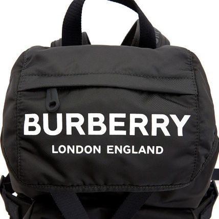 Burberry バックパック・リュック Burberry☆19FW ロゴプリント ナイロンバックパック☆正規品☆(8)