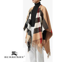 BURBERRY♡Check Wool Cashmere Cape