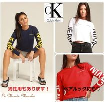 【Calvin Klein】INSTITUTIONAL BACK LOGO☆袖ロゴ長袖Tシャツ