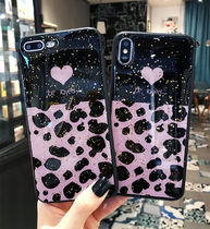Be Loved iPhone xs xr 8 8plus ケース 金箔 キラキラ ヒョウ柄