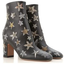 Star Sequin Ankle Leather Boots アンクルブーツ