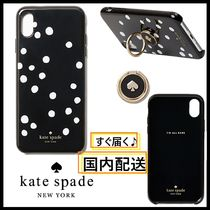 kate spade☆stability ring&dot resin iPhone ドット柄☆税送込