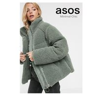 送料関税込★ASOS★ fleece puffer jacket in sage