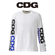 CDG ロゴ WEAR YOUR FREEDOM ロングスリーブ Tシャツ