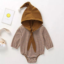 ★BABY★3−24M☆ LONG HOODED BODYSUITS★