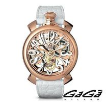 ☆GaGa MILANO☆ SKELETON 48MM 腕時計 ROSE GOLD PLATED♪