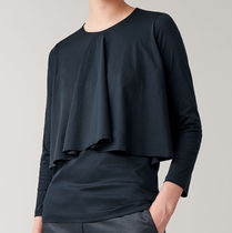 """""""COS"""" TOP WITH DRAPED LAYERS DARKBLUE"""
