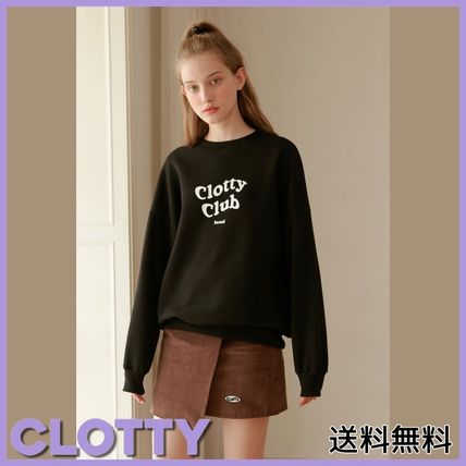 Tシャツ・カットソー [CLOTTY] CLOTTY CLUB SWEAT-SHIRT BLACK(CY1JFFM472A)