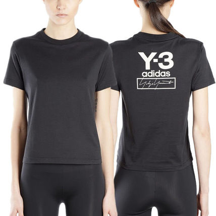 Y-3 Tシャツ・カットソー 国内発[Y-3] Tシャツ Stacked スタックド クルーネック ロゴ(2)