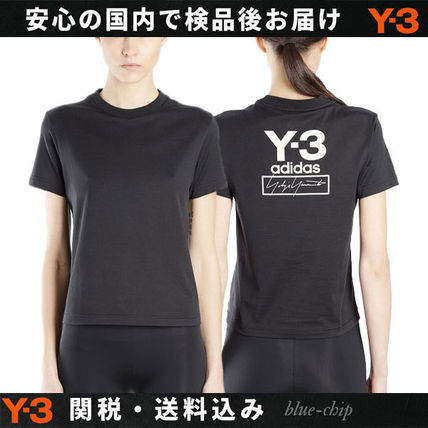 Y-3 Tシャツ・カットソー 国内発[Y-3] Tシャツ Stacked スタックド クルーネック ロゴ(7)