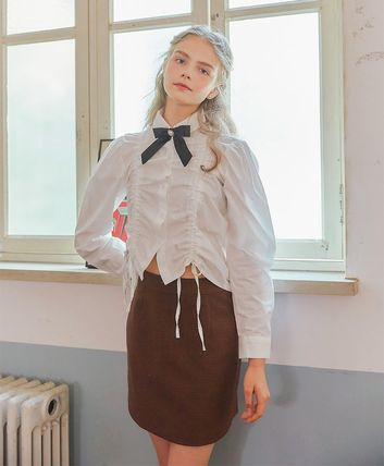 LETTER FROM MOON Tシャツ・カットソー [LETTER FROM MOON] FW CHECK SKIRT (BROWN)(2)