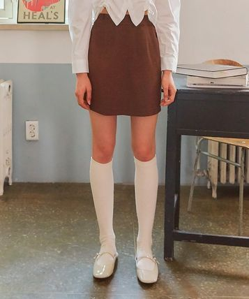 LETTER FROM MOON Tシャツ・カットソー [LETTER FROM MOON] FW CHECK SKIRT (BROWN)(3)