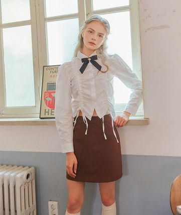 LETTER FROM MOON Tシャツ・カットソー [LETTER FROM MOON] FW CHECK SKIRT (BROWN)(8)