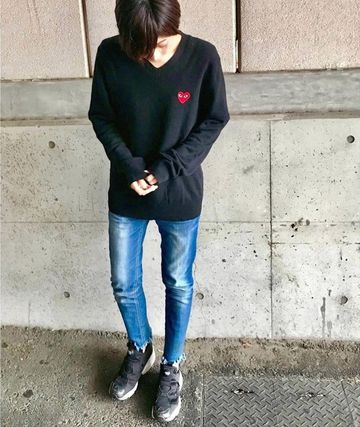 COMME des GARCONS Tシャツ・カットソー 【即発】COMME des GARCONS PLAYハートロゴ ロンT☆メンズ(10)