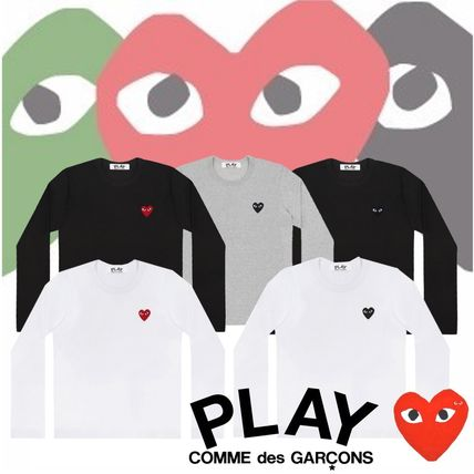 COMME des GARCONS Tシャツ・カットソー 【即発】COMME des GARCONS PLAYハートロゴ ロンT☆メンズ