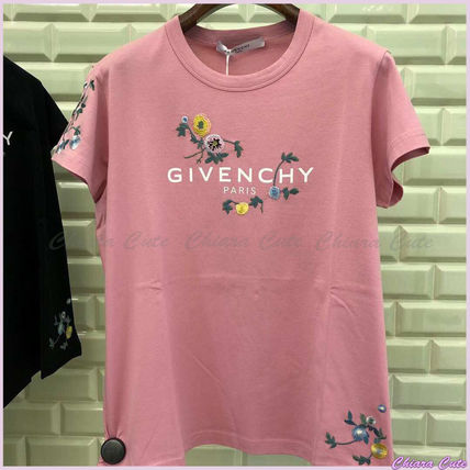 GIVENCHY Tシャツ・カットソー 【19AW NEW】GIVENCHY_women/フローラルロゴスリムTシャツ/PK
