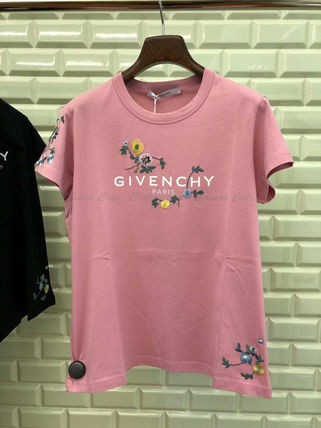 GIVENCHY Tシャツ・カットソー 【19AW NEW】GIVENCHY_women/フローラルロゴスリムTシャツ/PK(3)