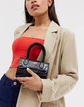 ASOS DESIGN micro grab bag with curved flap and detachable