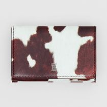 Burberry Small Cow Print Leather Folding Wallet 80171831