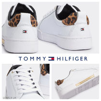 UK発★Tommy Hilfiger19AW新作'LEOPARD PRINTレザースニーカー'