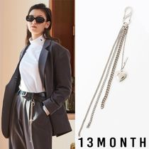 13MONTH★ HEART CHAIN KEYRING (SILVER)