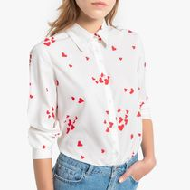 La Redoute Heart Print Shirt with Long Sleeves