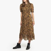 La Redoute Printed Middle Length Dress with Short Sleeves