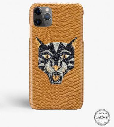 THE CASE FACTORY スマホケース・テックアクセサリー 関税送料込☆THE CASEFACTORY☆IPHONE 11 PRO SWAROVSKI TIGER(2)