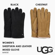 【国内未入荷】 UGG・SHEEPSKIN AND LEATHER MIXED GLOVE