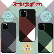 Simple style grid case / iPhone11/11Pro