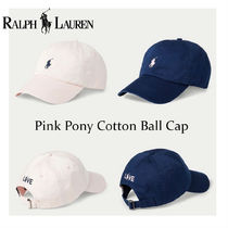 【New大注目】POLO RALPH LAUREN Pink Pony Cotton Ball Cap
