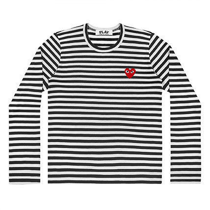 COMME des GARCONS Tシャツ・カットソー 【即発】COMME des GARCONS PLAY ボーダーロンT☆レディース(3)