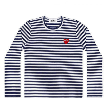 COMME des GARCONS Tシャツ・カットソー 【即発】COMME des GARCONS PLAY ボーダーロンT☆レディース(5)