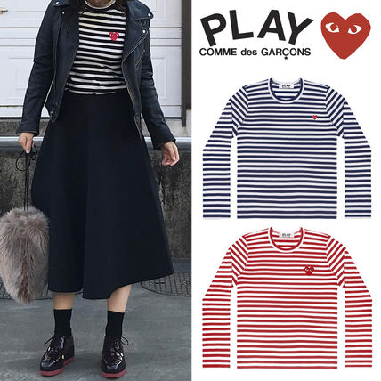 COMME des GARCONS Tシャツ・カットソー 【即発】COMME des GARCONS PLAY ボーダーロンT☆レディース