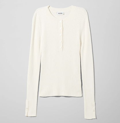 """WEEKDAY"" Netty Sweater White"