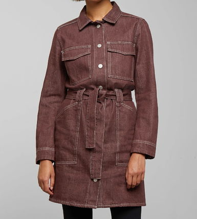 """WEEKDAY"" Hollis Mahogany Dress RedBrown"