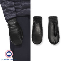 【CANADA GOOSE】LEATHER RIB LUXE MITTS ★リュクスミット