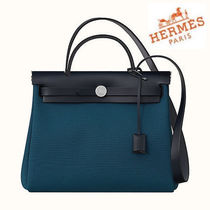 NEW HERMES◆HERBAG ZIP 31 DEEP BLUE◆